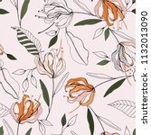 botanical motifs. isolated... | Shutterstock .eps vector #1132013090