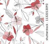 blooming  flowers. realistic... | Shutterstock .eps vector #1132013093