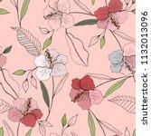 retro wild seamless flower... | Shutterstock .eps vector #1132013096