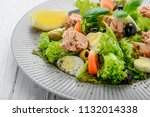 tuna salad with tomatoes  ... | Shutterstock . vector #1132014338