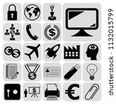 set of 22 business high quality ... | Shutterstock .eps vector #1132015799