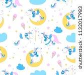 little pony unicorn children of ... | Shutterstock .eps vector #1132017983