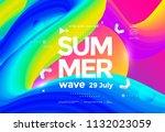 electronic music fest summer... | Shutterstock .eps vector #1132023059