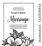 happy marriage card templates  ... | Shutterstock .eps vector #1132030916