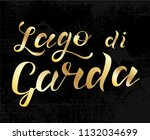 hand drawn gold lettering text... | Shutterstock .eps vector #1132034699