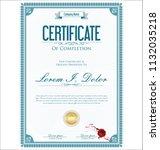 certificate or diploma retro... | Shutterstock .eps vector #1132035218