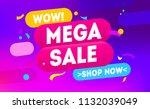 mega sale for web app banner....   Shutterstock .eps vector #1132039049