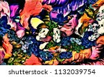 abstract psychedelic background ... | Shutterstock . vector #1132039754