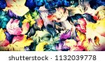 abstract psychedelic background ... | Shutterstock . vector #1132039778