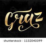 hand drawn gold lettering text... | Shutterstock .eps vector #1132040399