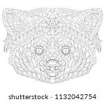 patterned red panda. tattoo... | Shutterstock .eps vector #1132042754
