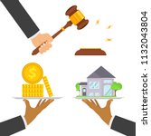 concept of real estate trading  ... | Shutterstock .eps vector #1132043804