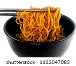 close up korean hot and spicy... | Shutterstock . vector #1132047083