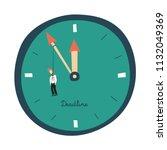 business deadline vector... | Shutterstock .eps vector #1132049369
