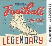 classic usa football t shirt... | Shutterstock . vector #1132050836