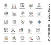 data science flat vector icons... | Shutterstock .eps vector #1132056170