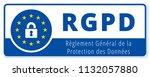 eu rgpd sign illustration | Shutterstock .eps vector #1132057880