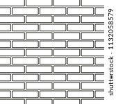 line art black and white brick... | Shutterstock .eps vector #1132058579