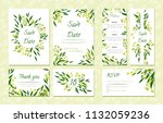 eucalyptus design. wedding... | Shutterstock .eps vector #1132059236