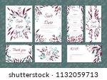 floral vintage cards set for... | Shutterstock .eps vector #1132059713