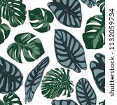 vector tropic seamless pattern. ... | Shutterstock .eps vector #1132059734