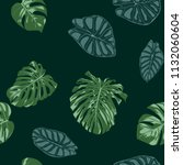vector tropic seamless pattern. ... | Shutterstock .eps vector #1132060604