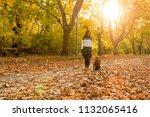 beautiful young woman playing... | Shutterstock . vector #1132065416