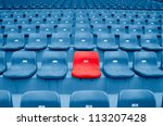 Empty Plastic Chairs At The...