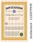 orange invitation. easy to... | Shutterstock .eps vector #1132079939