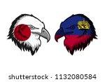japan vs liechtenstein | Shutterstock . vector #1132080584