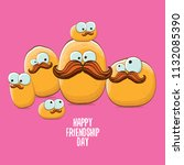 vector friends potato... | Shutterstock .eps vector #1132085390