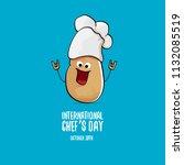 international chef day greeting ... | Shutterstock .eps vector #1132085519
