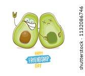 happy friendship day cartoon... | Shutterstock .eps vector #1132086746