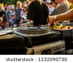 turntable dj setup | Shutterstock . vector #1132090730