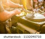 dj play music summer party   Shutterstock . vector #1132090733