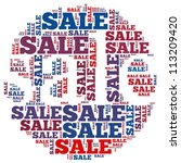 sale info text graphics and... | Shutterstock . vector #113209420