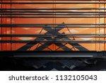 metal grid structures over...   Shutterstock . vector #1132105043