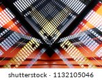 collage photo of industrial... | Shutterstock . vector #1132105046