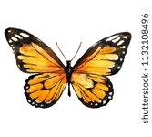 beautiful yellow butterfly...   Shutterstock . vector #1132108496
