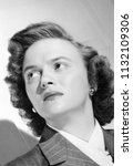circa 1945  vintage portrait of ... | Shutterstock . vector #1132109306