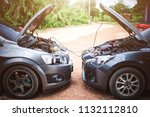 use new car battery to start... | Shutterstock . vector #1132112810