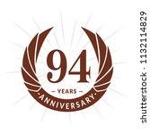 94 years anniversary. elegant... | Shutterstock .eps vector #1132114829