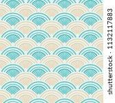 seamless vintage pattern of... | Shutterstock .eps vector #1132117883