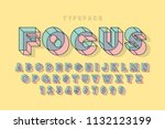 linear halftone original 3d... | Shutterstock .eps vector #1132123199