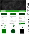 dark green vector ui ux kit...