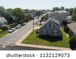aerial view of houses and... | Shutterstock . vector #1132129073