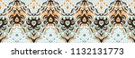 ikat seamless pattern. vector... | Shutterstock .eps vector #1132131773
