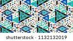 geometric folklore hipster... | Shutterstock .eps vector #1132132019
