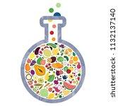 vector illustration of glass... | Shutterstock .eps vector #1132137140