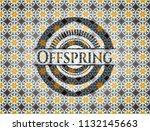 offspring arabesque emblem....   Shutterstock .eps vector #1132145663
